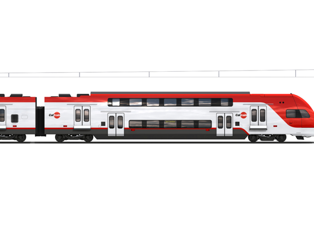 Electric train rendering