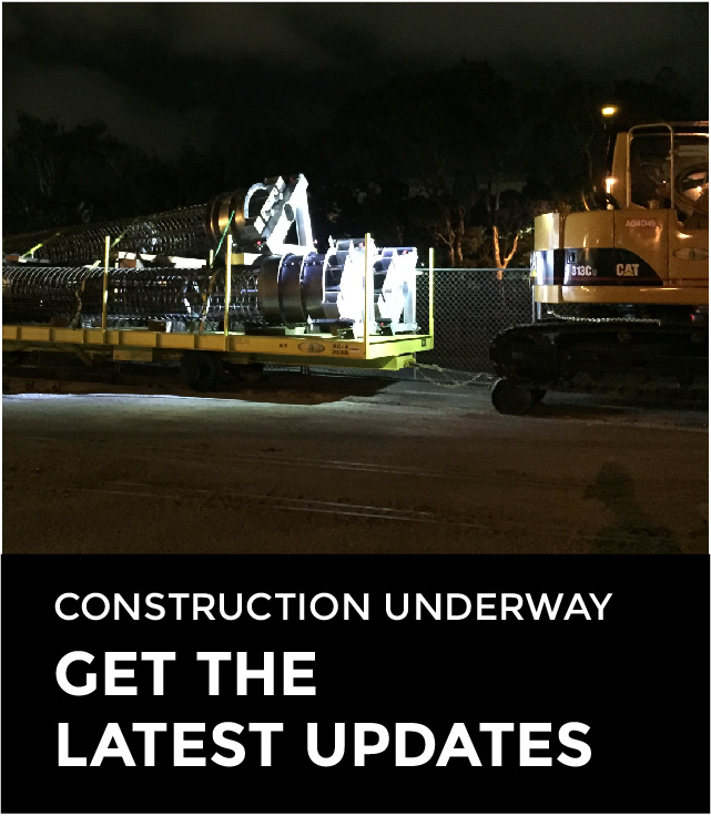 Construction Underway: Get the latest updates