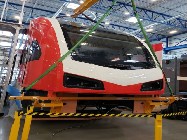 Bonnet Being Fitted to Carbody February 2020