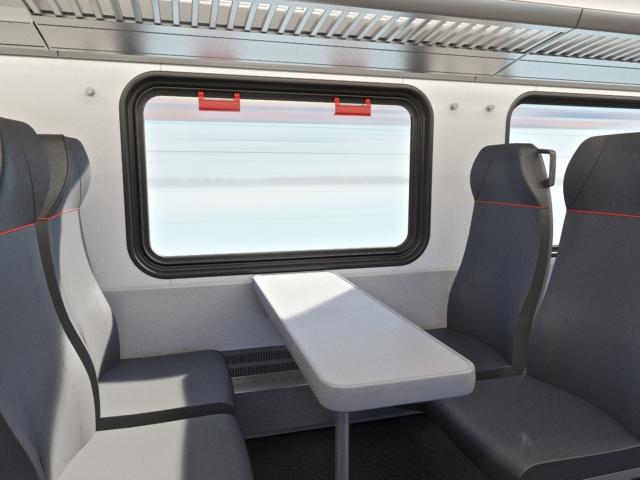 Electric Train Seats rendering