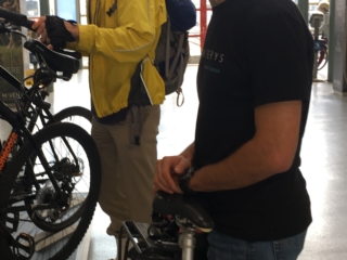 Cyclists Try Out Bike Storage Samples at 4th & King Station