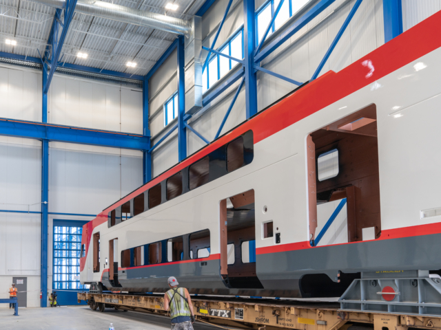 Electric train manufacturing: September 2018
