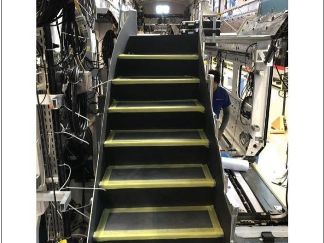 First set of stairs installed