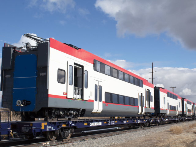 Electric Train Traveling to Pueblo Test Site