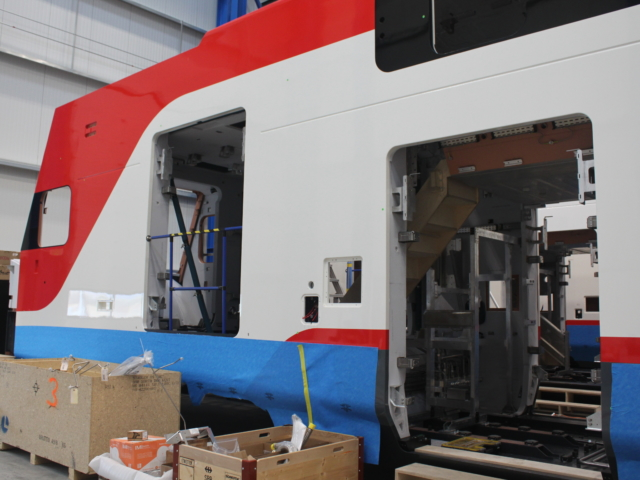 Electric train manufacturing: February 2019