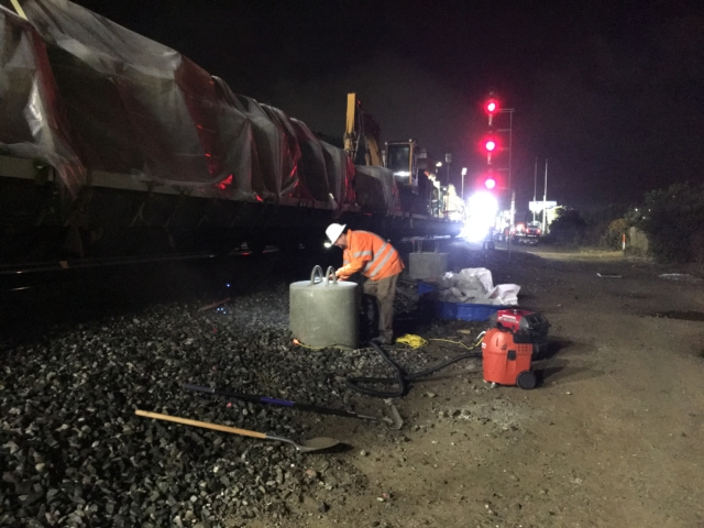 Caltrain Electrification Foundation Installation
