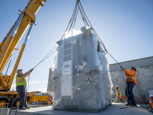 Caltrain Electrification Transformer Delivery