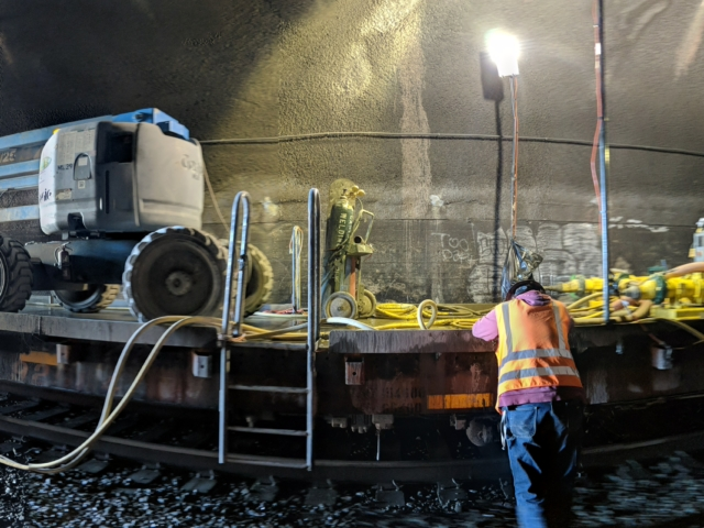 Caltrain Electrification Tunnel Work