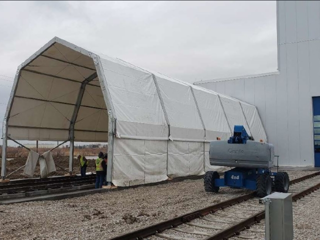 Water Tightness Test Tent Assembled – Spring 2020