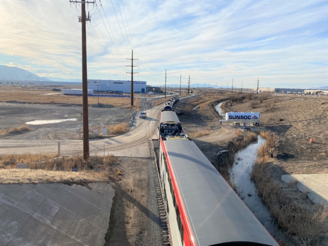 Electric Train on its way to Pueblo Test Site