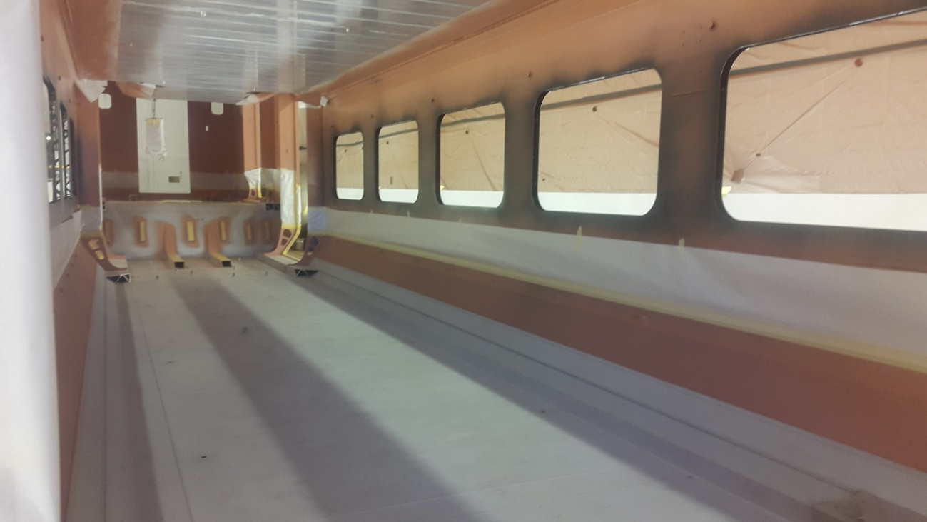 photo of Car shell inside primer painting: May 2018