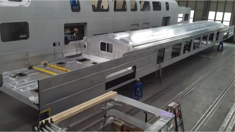 photo of upper deck assembly